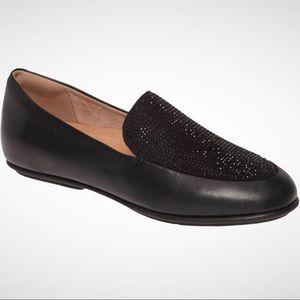 FitFlop Black Lena Crystal Embellished Loafer